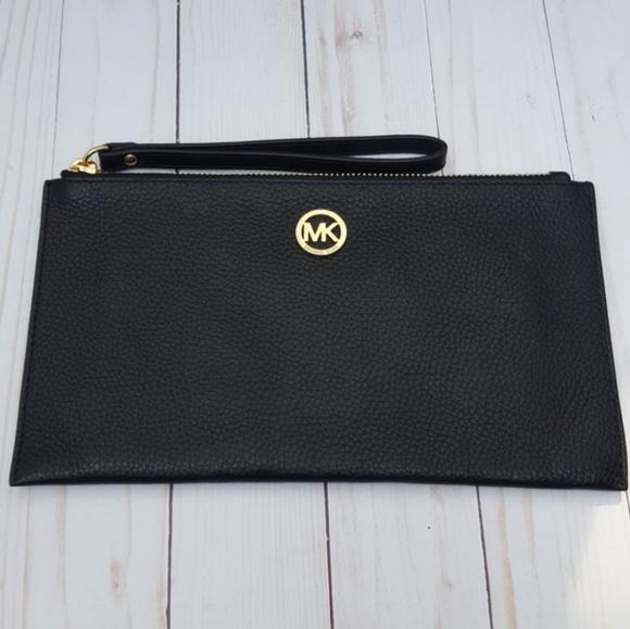 805541645b1f63 MICHAEL Michael Kors Bags   Michael Kors Wristlet Large Leather Zip ...